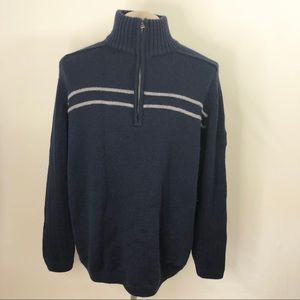 The North Face Zip up Sweater XL 100% wool